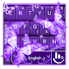 Purple Neon Butterfly Keyboard Theme
