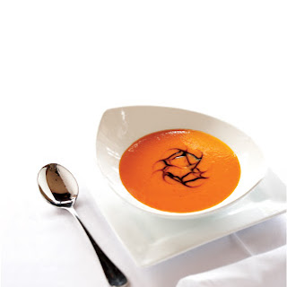 Red Pepper Soup with Balsamic Reduction