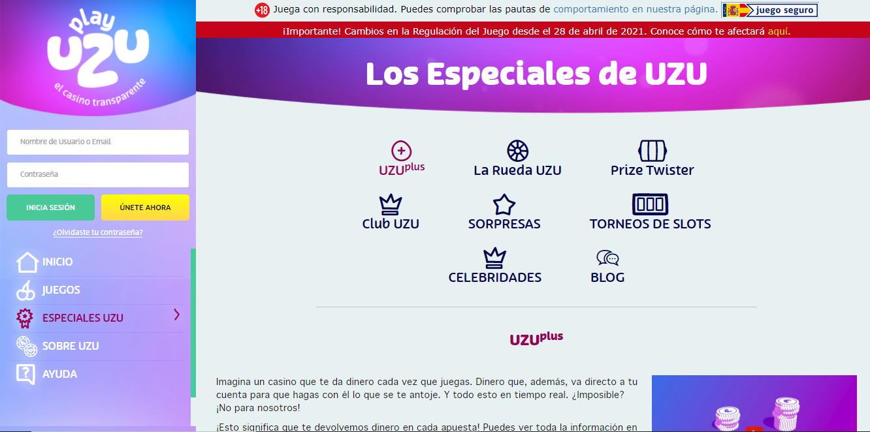 Promotions and Bonuses on PlayUZU Casino