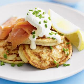 Potato Pancakes with Smoked Salmon.