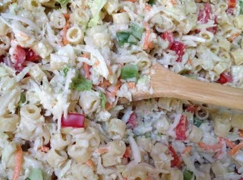 "Click Here for Recipe: Pasta Slaw ""Love this. I use a bag..."