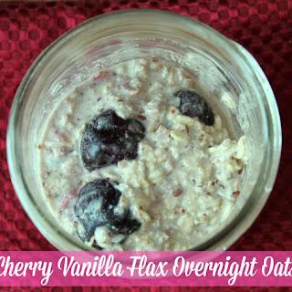 Cherry Vanilla Flax Overnight Oats.