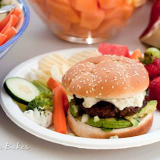 Queso Bacon Burgers with Avocado Salsa