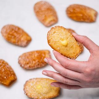 Lemon Curd Madeleines.