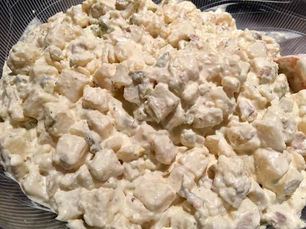 Cheat! Bought Potato Salad Doctored. This Is The Finished Product.
