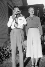 Photo: Flora Franks & son Lloyd c1955