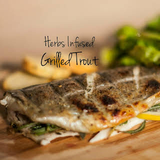 Herbs Infused Grilled Trout.