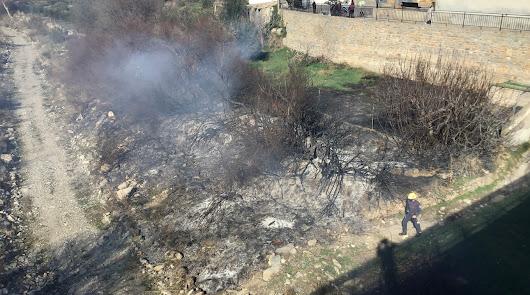Los bomberos sofocan un conato de incendio en el Almanzora