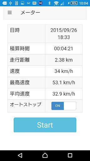 シンプル サイコン ~ 自転車 サイクルメーター
