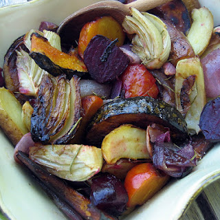 Balsamic Roasted Vegetables.