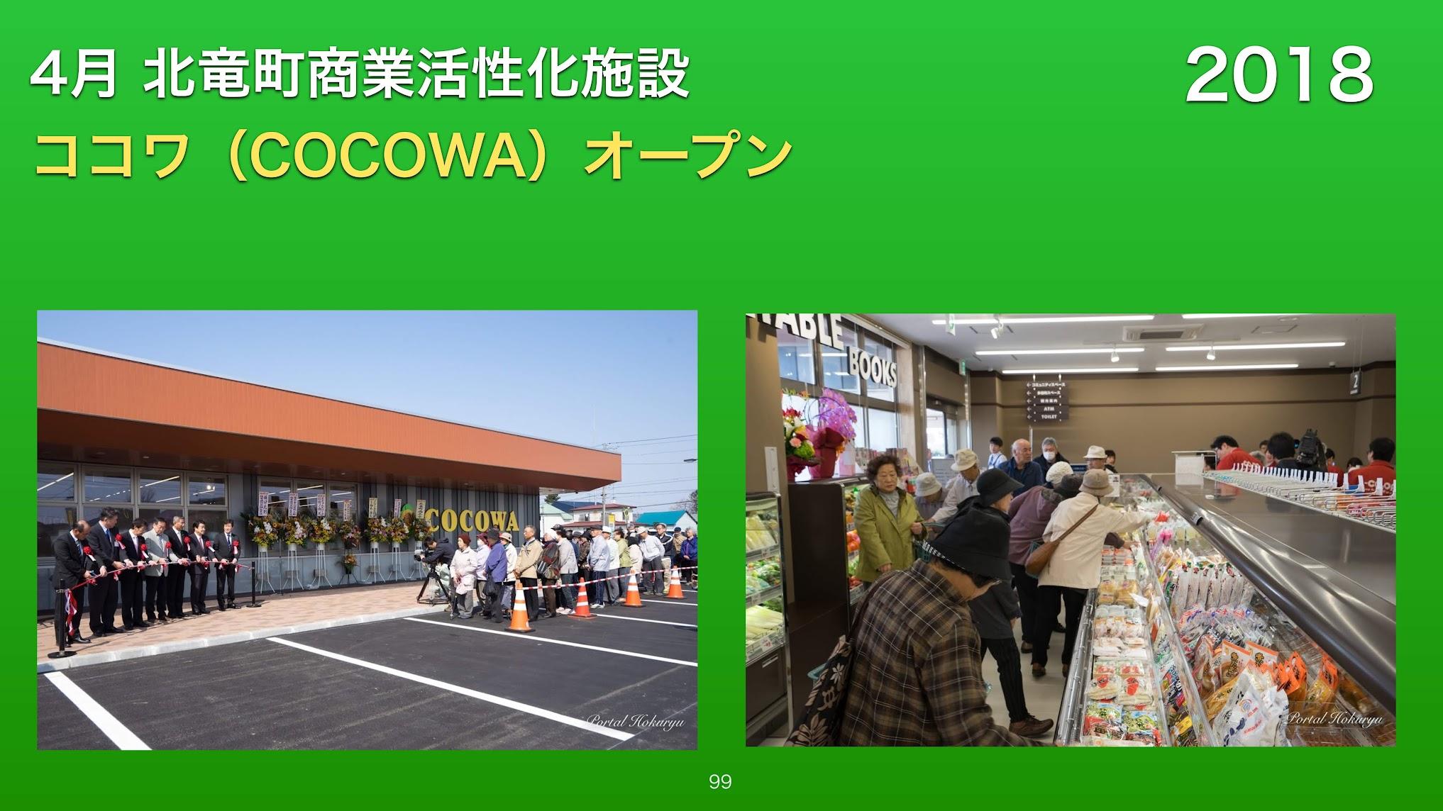 4月:北竜町商業活性化施設ココワ(cocowa)オープン