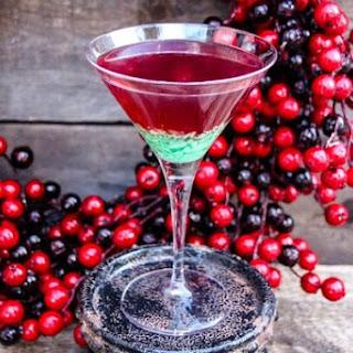 Green Candy Cane Crush Peppermint Martini.