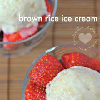 Brown Rice Ice Cream.
