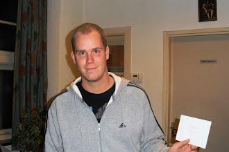 Photo: 25ste Oudejaars sneldamtoernooi van IJmuiden. Eerste prijs hoofdgroep: Martin van der Sluis