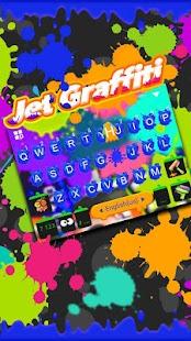 Jet Graffiti Keyboard Theme - náhled