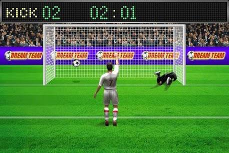 Football penalty. Shots on goal. 8
