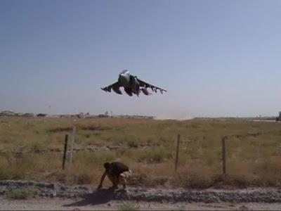 Harrier crazy low pass