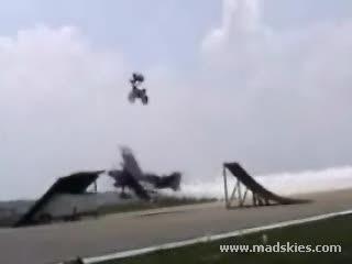 Bike above, plane below