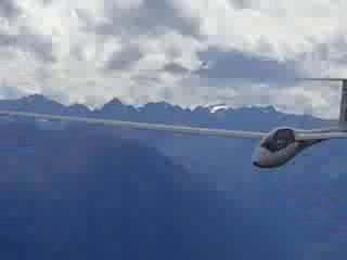 Glider flyby