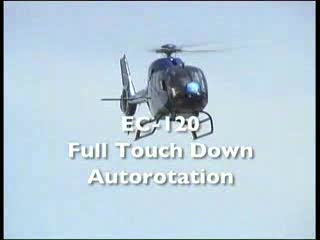 Full touchdown autorotation