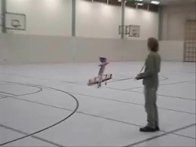 Insane indoor aerobatics