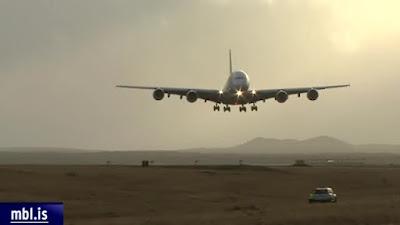 Airbus A380 crosswind landings