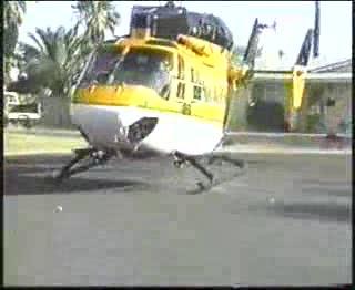 Dramatic hard landing