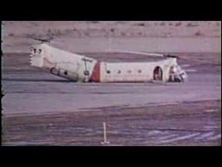 H-21 helicopter crash-tests