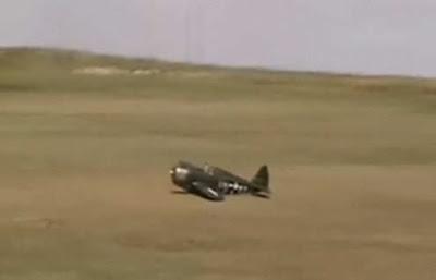 P-47 belly landing