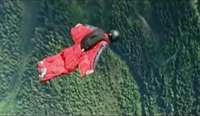Man, Mountain, Wingsuit