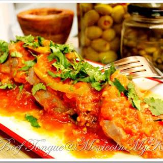 Beef Tongue In Tomato Sauce Recipe / Receta de Lengua de Res Entomatada