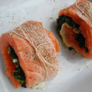Stuffed Salmon With Tomato-Olive Tapenade.
