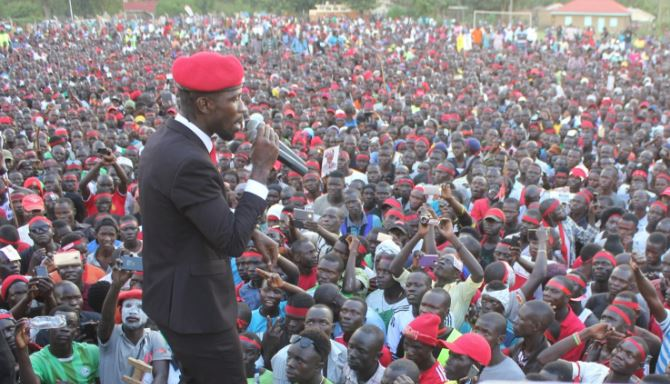 Robert Kyagulanyi (pictured) and Francis Zaake, say they were tortured by security forces while in detention in August.