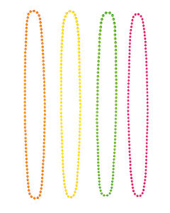 Halsband, neonfärger 4-pack