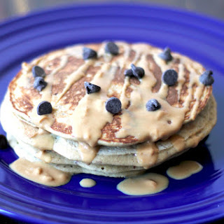 Clean Eating Peanut Butter Chocolate Chip Pancakes