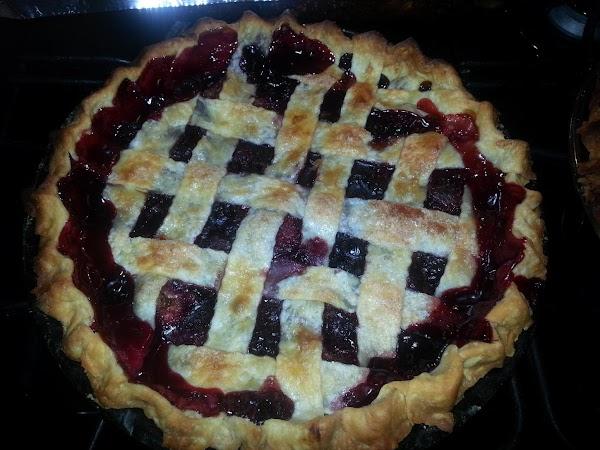 My Triple Berry Lattice Sugary Topped Pie.. Recipe