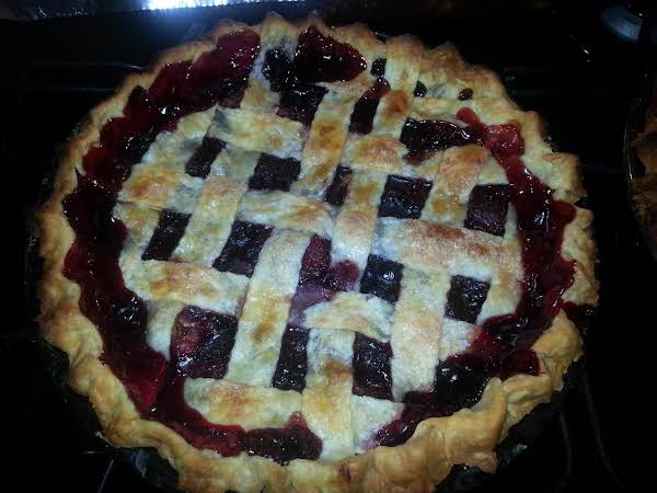 My Triple Berry Lattice Sugary Topped Pie.. Recipe