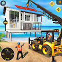 Beach House Builder Construction Games 2018 icon