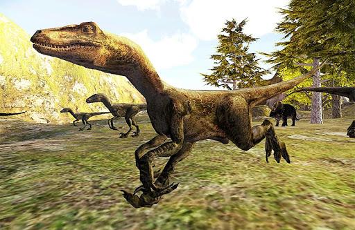 恐竜の攻撃3D