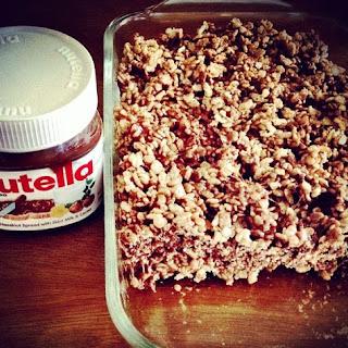 Nutella Rice Krispies Treat.