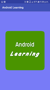 Tutorials App for Android Learning - náhled