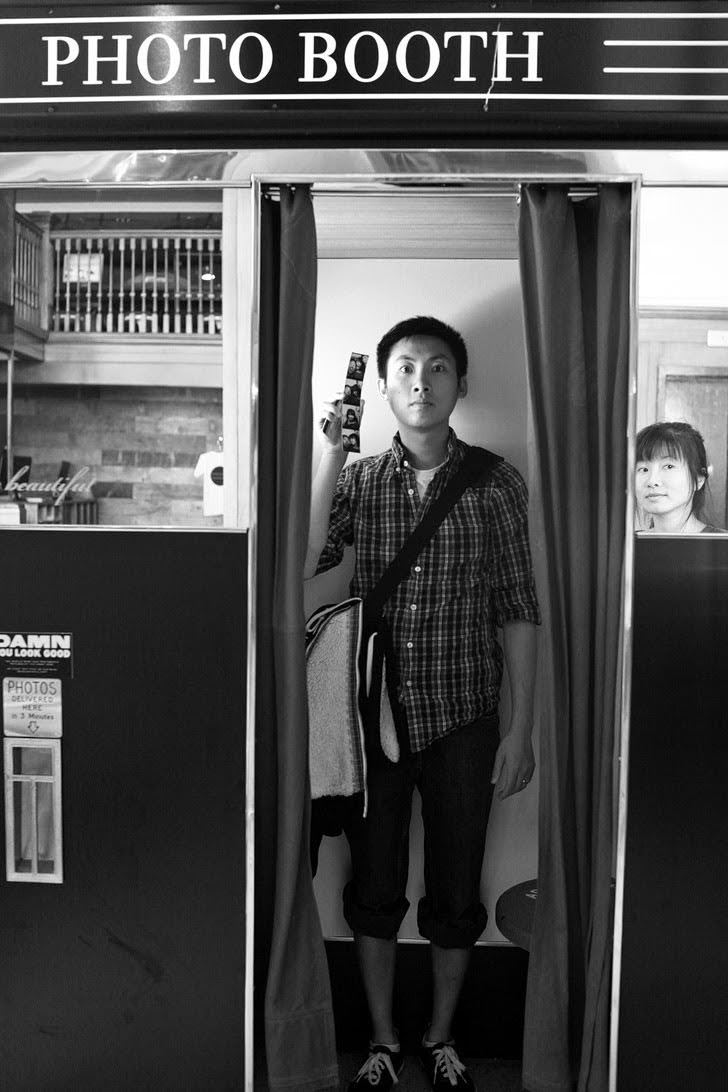 Take a Photo Booth Photo at Ace Hotel (101 Things to Do in Portland Oregon).