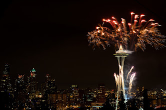 Photo: Out with the old, In with the new Seattle, WA. 2012.  I shot fireworks for the first time this last new year, it was a big learning experience for me. Here is the one image that I think worked. I also posted another one straight out of the camera on Jan 1st, I like this one better.  Looking forward to 4th of july.