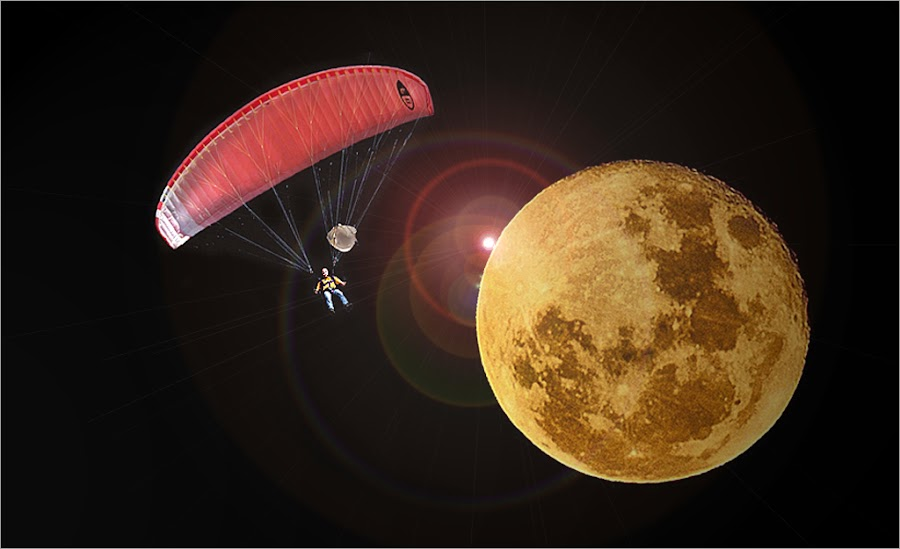 gliding over the moon by Leon Pelser - Digital Art Abstract ( no flash, 1/125, f6.3, tripod, iso 400,  )