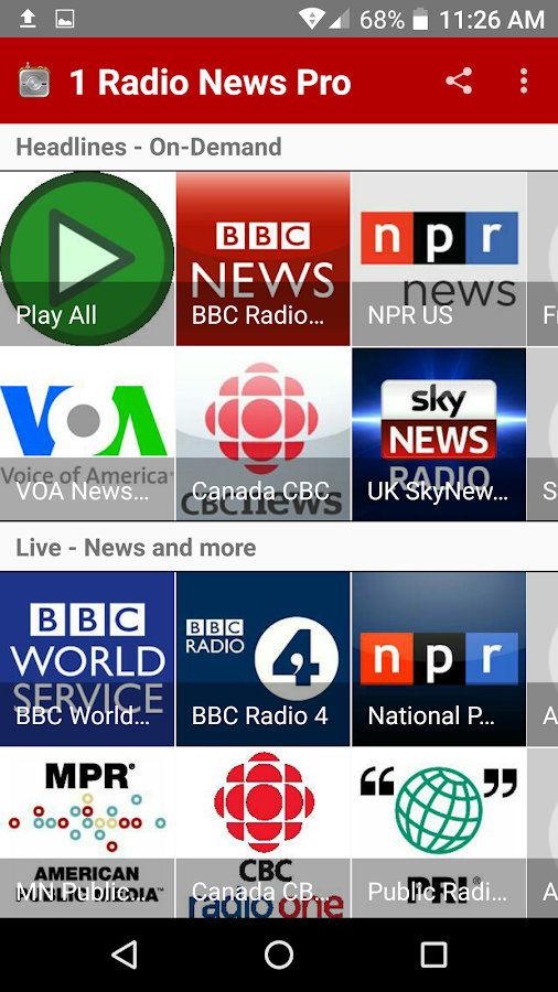 1 Radio News Pro: More Features and Shows, No Ads- screenshot