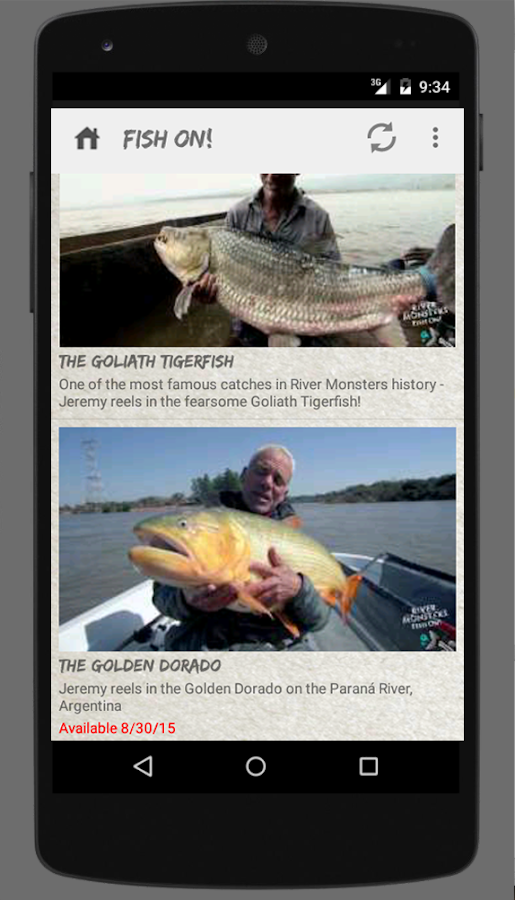 River Monsters Fish On!- screenshot