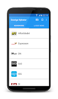 Screenshot of Sverige Nyheter
