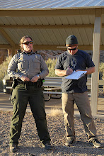 Photo: Signing off with Ranger Peggy