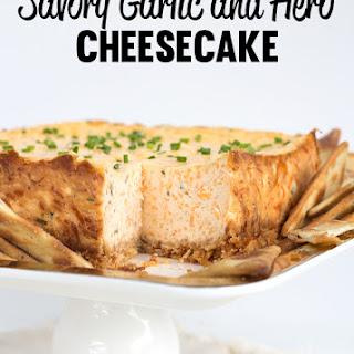 Savory Garlic and Herb Cheesecake.