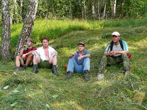 Photo: Odpočinek na louce, Petr, Šimon, Robert a Dušan